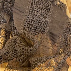Accessories - Open weave scarf with sparkle detail